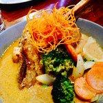 24hr slow roasted lamb shank - massaman curry.