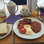 Welsh Breakfast at the Ramada- ALMOST Classic English except the bacon is similar to the America