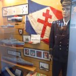 France Libre flag and artifacts