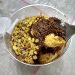 Mousse de chocolate com pasta de amendoim