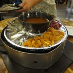 Fillling in the hot pot