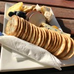 Cheese platter - nice selection of cheeses - quite filling