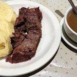 short ribs, dumplings & brown gravy
