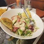 Family meal at del Arte Olivet