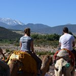 Travelling towards the Atlas mountains