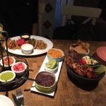 Delicious tacos and sharing platter