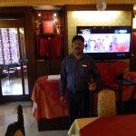 Mr John at reception of Riorico restaurant.