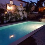 Pool at night time