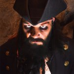 Blackbeard making an appearance at Pirate's Quest Newquay