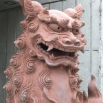 shisa with mouth open