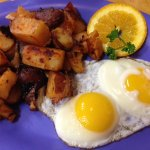 Sunny Side Egg Plate w/Home Fries