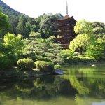池に美しく映る五重塔