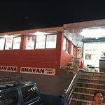 Entrance of Saravana Bhavan Pure Veg Restaurant.