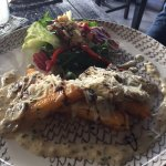 Polenta with mushrooms and parmesan - so delicious