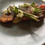 Pan fried sea bass