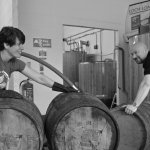 Filling whisky barrels