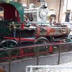 Open exhibit of steam loco