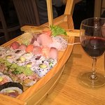 'Boat Set 4' sushi selection - too much for this two people