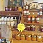Buy jams, honey and hot sauce