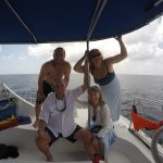 Heading back after lunch, snorkeling with the turtles and at the wrecks