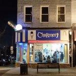 Front door - Charmery, at Baltimore's Hampden area.