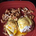 Delicious traditional Eggs Benedict