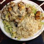 Shish Kebab Plate with Tahini Sauce
