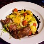 Super steak with fantastic veggies
