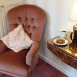 Relax with a coffee in the Pink Room at Dowfold House