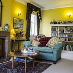 The cosy guest sitting room at Dowfold House Bed and Breakfast