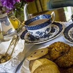 Welcome tea for thirsty arrivals at Dowfold House Bed and Breakfast