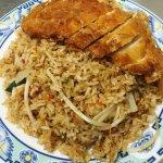 Gebratener Reis mit knuspr. Hähnchenbrustfilet