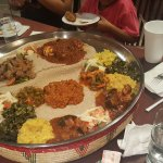 food serve in authentic Ethiopian style