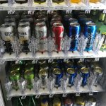 I was surprised to see beer & wine in the vending machine :)