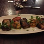 Excellent starters - scallops and wood pigeon