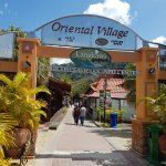 The entrance of the Oriental Village