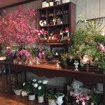 Bar area ...always tons of amazing fresh flowers!!