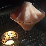 Frozen Watermelon Margarita with Rose Salt