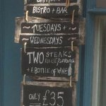 Steak and wine midweek offer