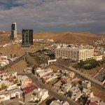 Vista aérea del hotel Sheraton Soberano Chihuahua.