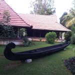 Boat in garden