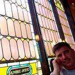 We sat by the stained glass windows and tried it all,from appetizers to dessert. Great place.