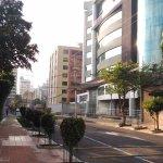 Calle donde está ubicado el hotel.