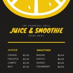 Fresh fruit Juices and Smoothies