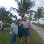on the boardwalk at Santa Maria Beach, long island bahamas