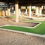 Crazy golf under the Riverside club house
