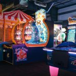 Our arcade is spacious and adults can enjoy a drink while playing games!