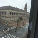 View of the Boston Public Library from our room