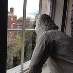 Model of Erasmus Darwin looking out of front window