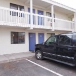Motel 6 Santa Fe, Cerrillos Road South. Parking by room.